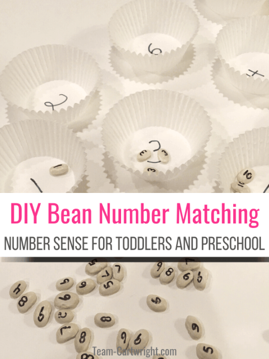 diy number matching for toddlers and preschool