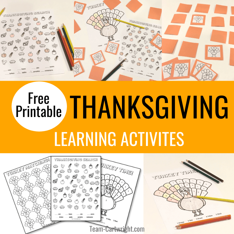 Thanksgiving Free Printables: Learning Activities For Kids