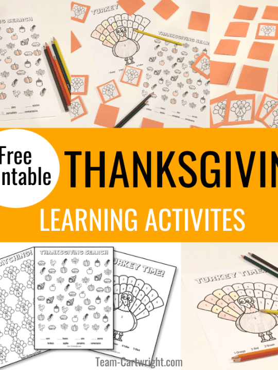 free printable thanksgiving learning activities