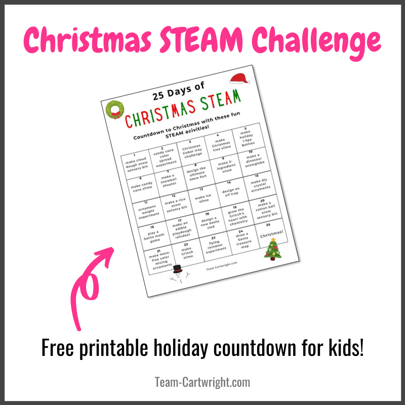 Christmas STEAM Challenge for Kids