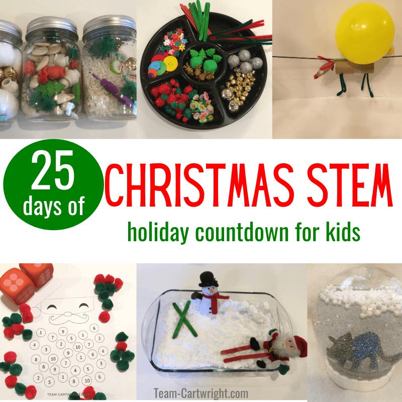 25 days of christmas stem for kids