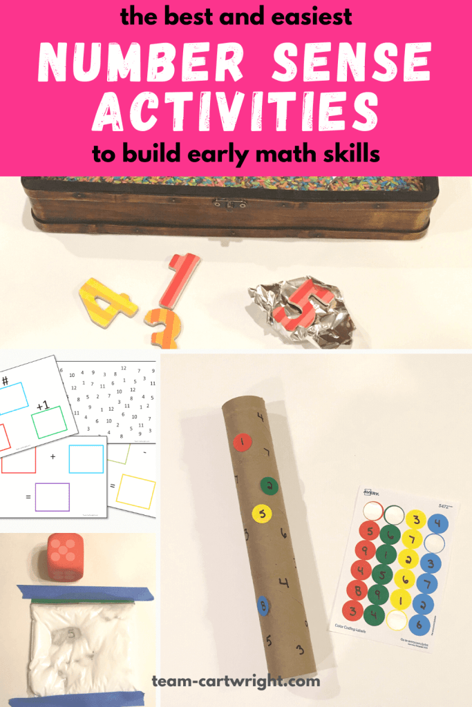easy and fun number sense activities to build early math skills