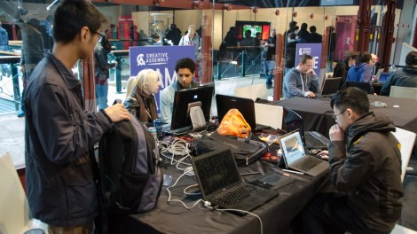 Rezzed, expo, video games, Game Jam, desks, PCs