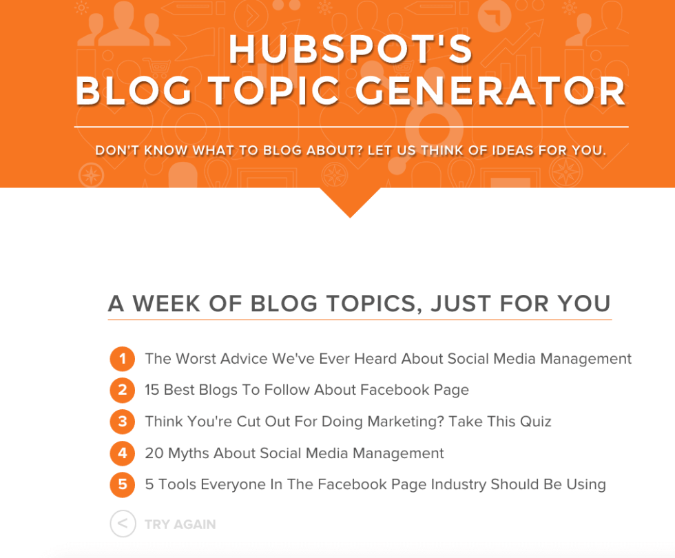 Hubspot Blog Topic Results