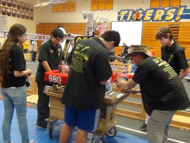 Moving the robot onto the field