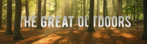 Allstar Communications the great outdoors text, in the forest