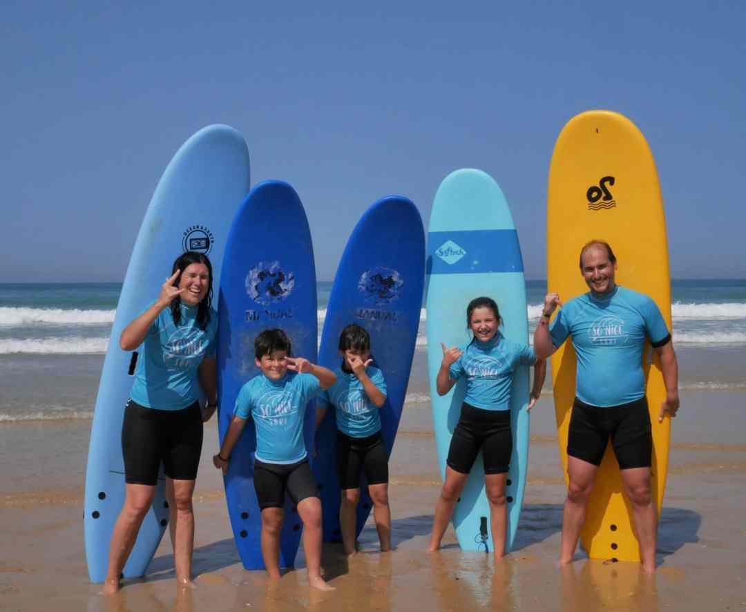 cours de surf en famille le porge