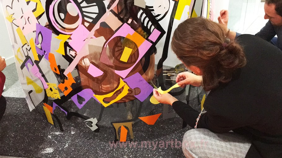 fresque participative pour animation inauguration