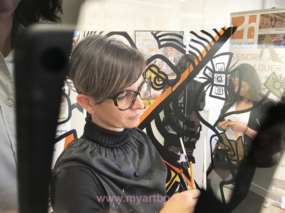 animation fresque pour entreprise avec artiste