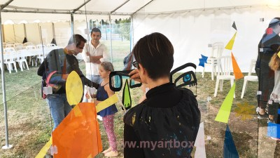 fresque participative pour animation garden party