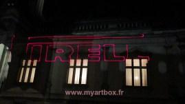 animation collective avec le logo de pirelli