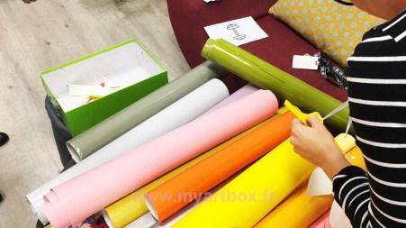 adhésif de couleurs pour l'évènement du séminaire