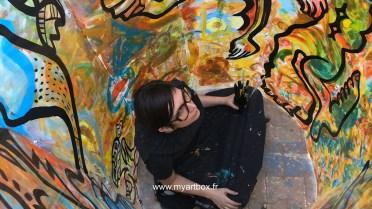 animation fresque pour street art