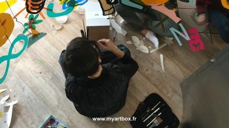 fresque pour animation art