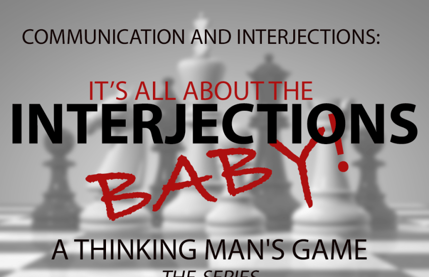 Chess board about interjections