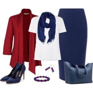 Red and Navy Blue