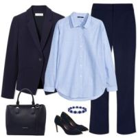 Navy and Light Blue