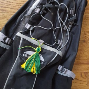 School spirit tassel on a backpack
