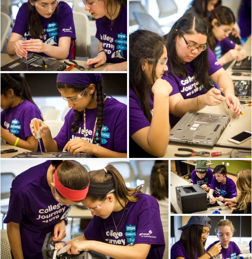 Girls Scouts Tear into Technology