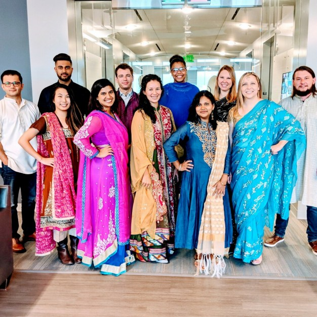 Our Marketing Team garbed and ready to celebrate Diwali at our HQ!
