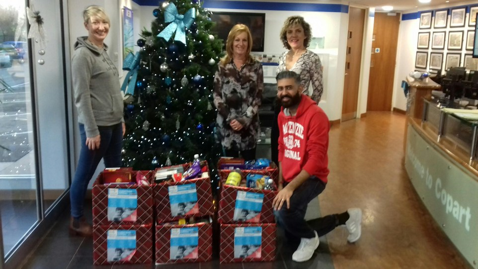 Copart UK Christmas in a Box Donations