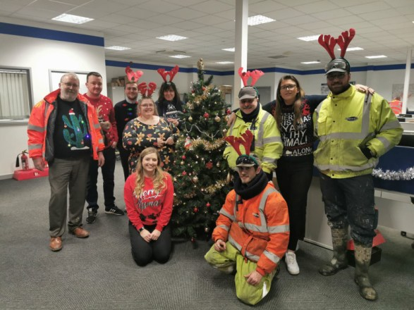Christmas Jumper Day today at York 410