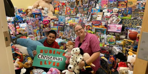 CA CTU Ruben's Christmas Elves Toy Drive that benefits children at the UC Davis Pediatric Cancer Center