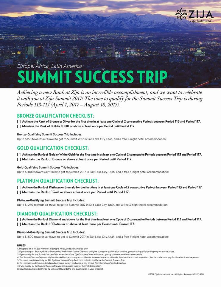 Zija Summit Success Trip EALA