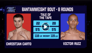 Christian Carto lost via KO on Feb. 8.