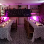 2017 bridging our borders with hope dinner table setup
