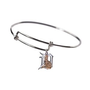 Lucky Fox Silver Bangle Bracelet
