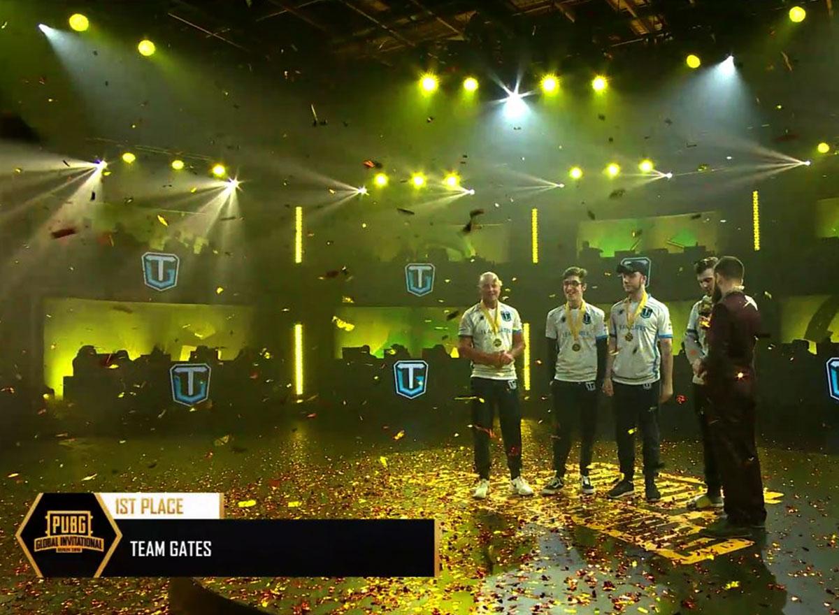 teamgates Global PUBG winners