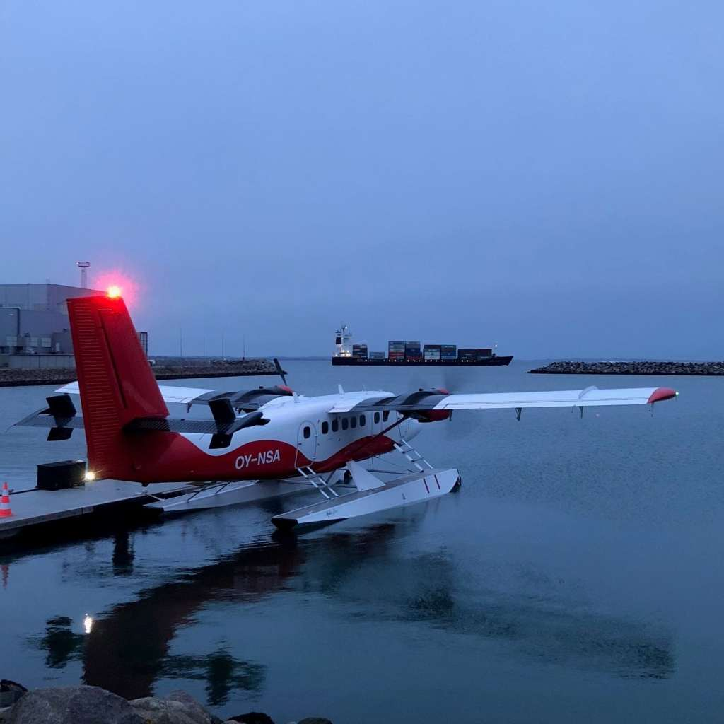 After my flight, a picture of the Nordic Seaplane's twin otter on floats getting ready for it's last flight!