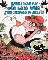 Cover for There Was An Old Lady Who Swallowed a Rose Book