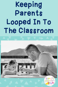 Pin image for Keeping Parents Looped In to the Classroom blog post.