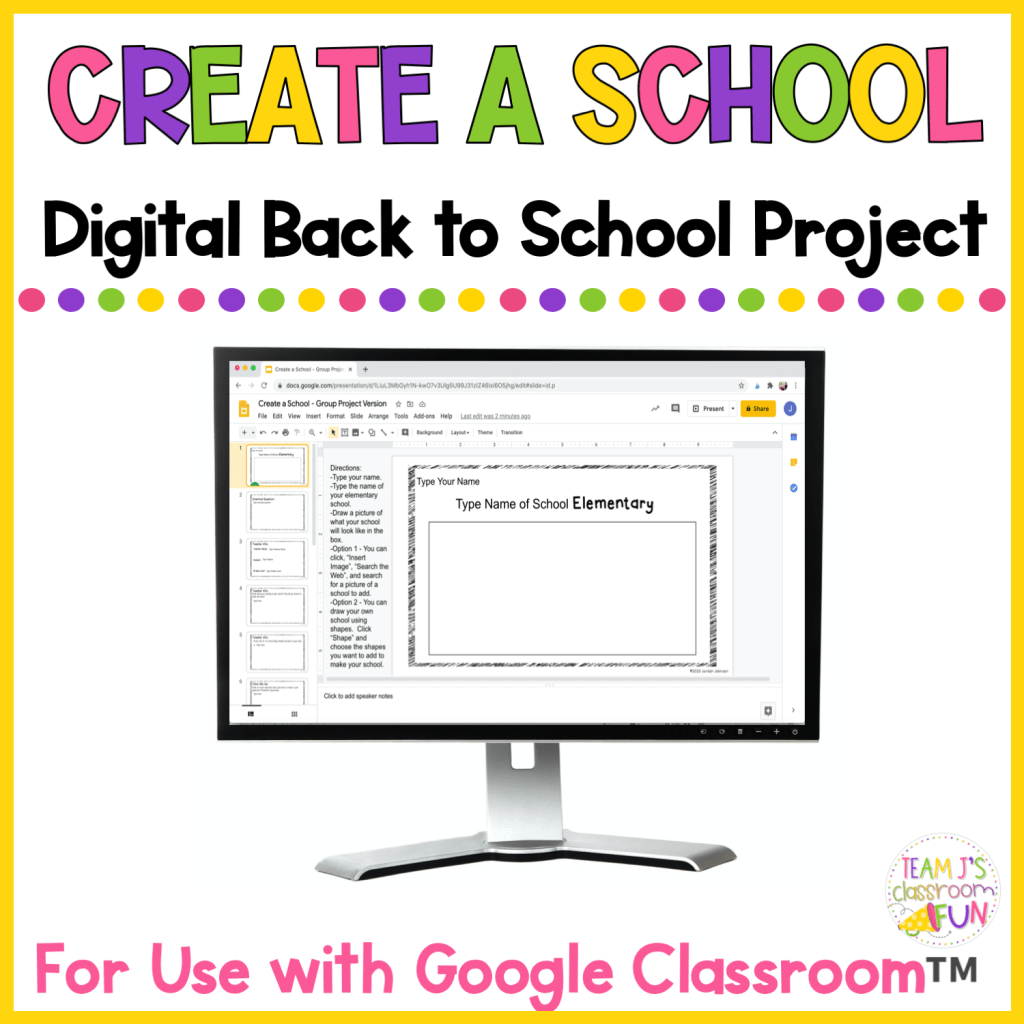 Picture of cover for TPT Resource - Create a School Digital.