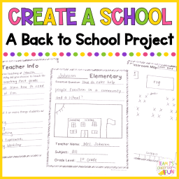 Picture of cover for TPT Resource - Create a School Printable.