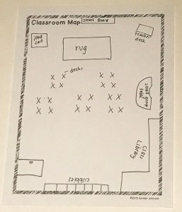 Picture of classroom map page from Create a School Activity