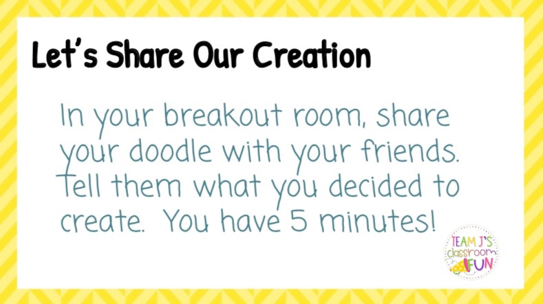 Directions for sharing Finish the Doodle