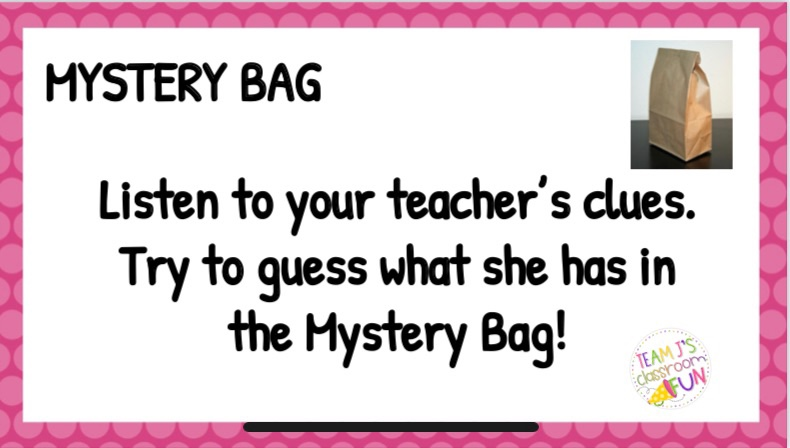 Image for Mystery Bag Morning Meeting activities