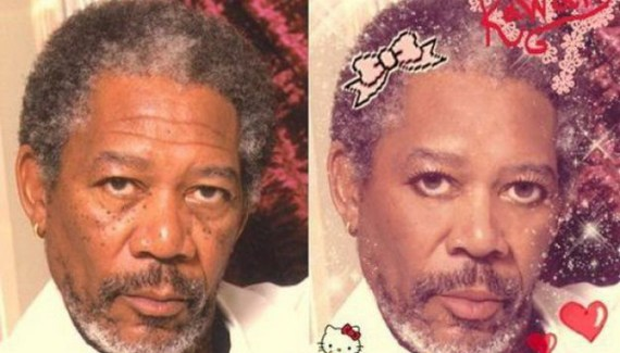 Morgan Freeman Hello Kitty Funny Pictures Random Humor Epic Fails worst awkward bad family photos weird worst tattoos bad tattoos stupid crazy people funny names funny memes awkward family photos horrible goofy college pics strange