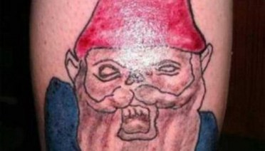 Scary Gnome Bad Tattoos America's Worst Tattoos Regrettable Horrible Awkward Stupid People Regrets Misspelled Nasty Tats WTF Funny
