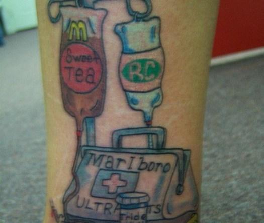 McDonald's Sweet Tea IV Bad Tattoos America's Worst Tattoos Regrettable Horrible Awkward Stupid People Regrets Misspelled Nasty Tats WTF Funny