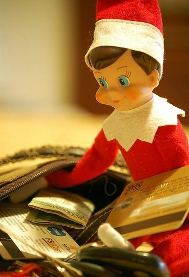 Bad Elf stealing from your purse