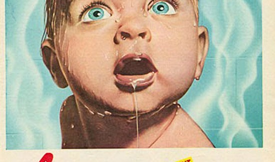 Vintage Gas - The Magic of Instant Hot Water ad with what appears to be a scalded, boiling baby