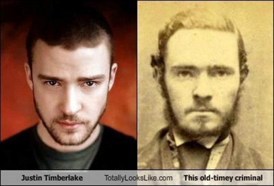 Celebrities that look like Historical Figures ~ Justin Timberlake Old Timey Criminal
