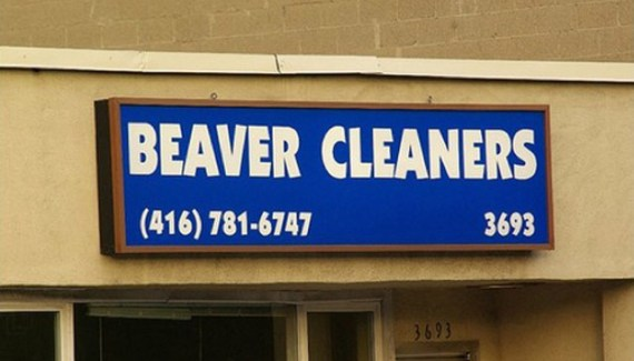 Funny Signs ~ Beaver Cleaners