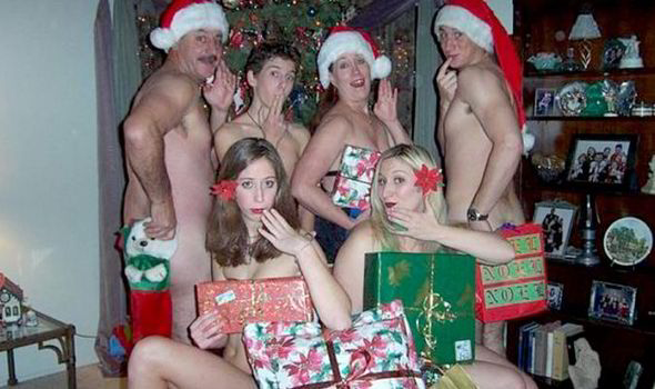 christmas package Naked