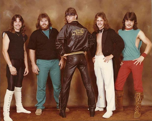 33 Funny Pics of Random Offbeat Weirdness ~ Touche, 1980s band promo picture