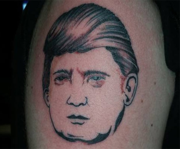 Free Donald Trump tattoo that looks like Charlie Sheen
